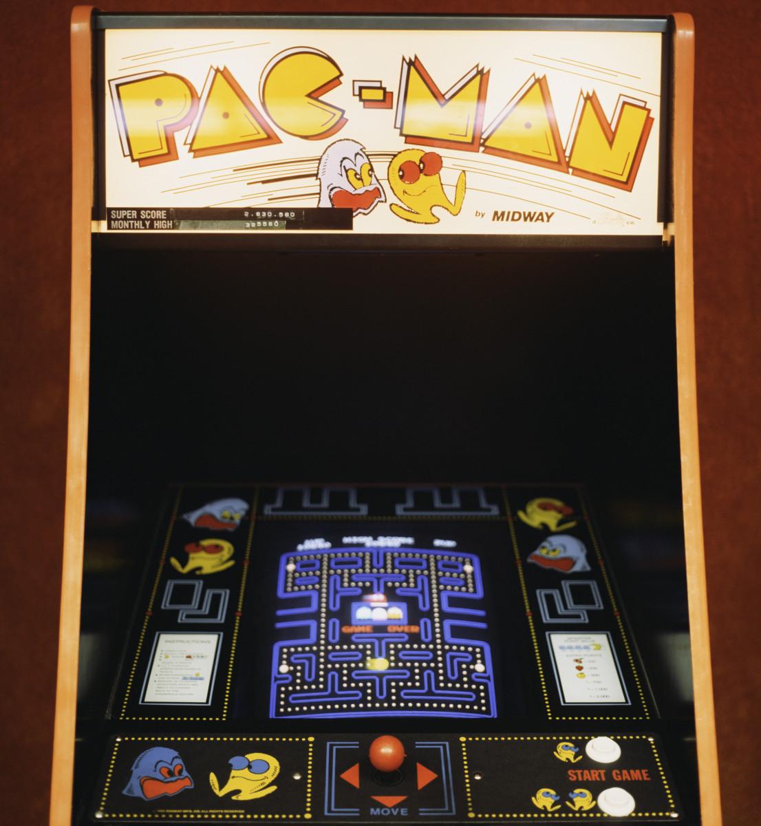 The Pac-Man arcade game.