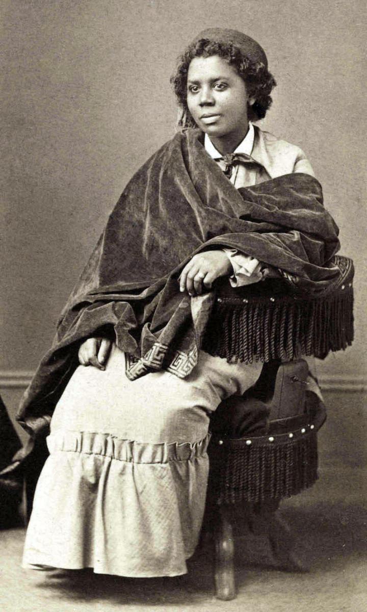 Edmonia Lewis, albumen print, c.1870.