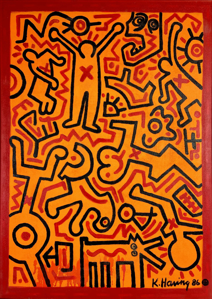 Until recently, the owner of this Keith Haring work had no idea what she had. Pre-auction estimate for the painting is $700,000-$900,000.