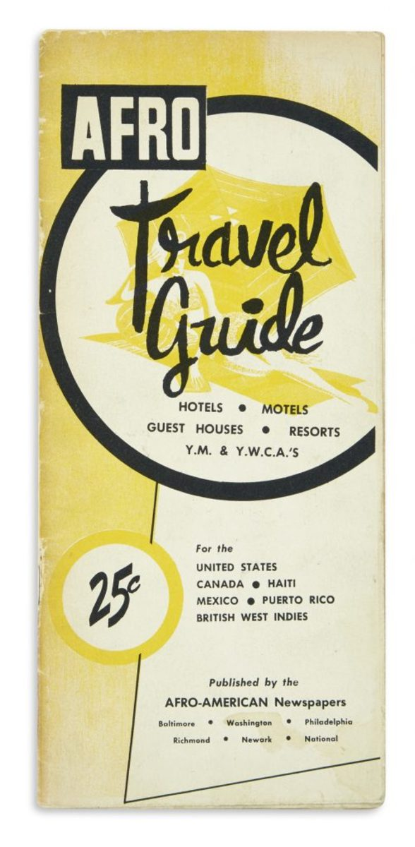A 17th Year Afro-American's Travel Guide, printed pamphlet, 1957; sold for $27,500.