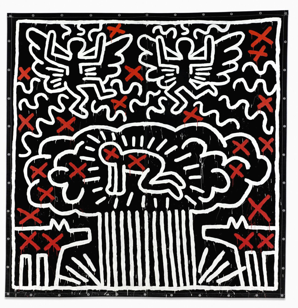"""Keith Haring's """"Untitled"""" (1982) sold for $6.5 million, the most ever paid for the artist's work."""