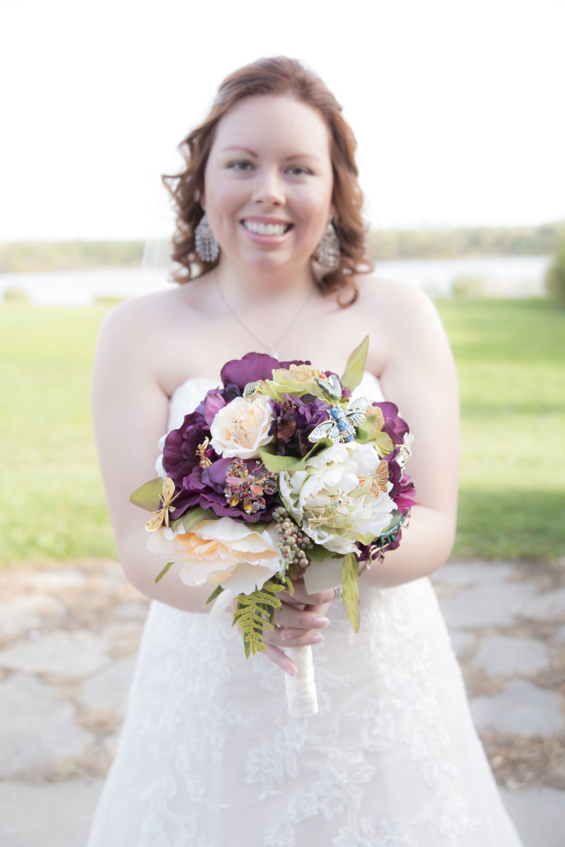 The author on her wedding day.