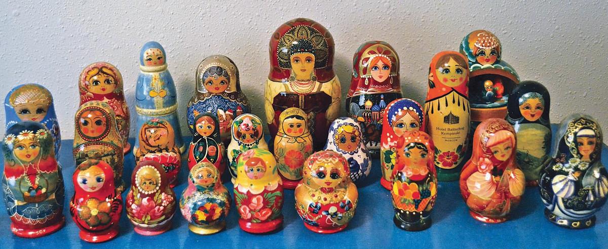 The author's Russian matryoshka dolls.
