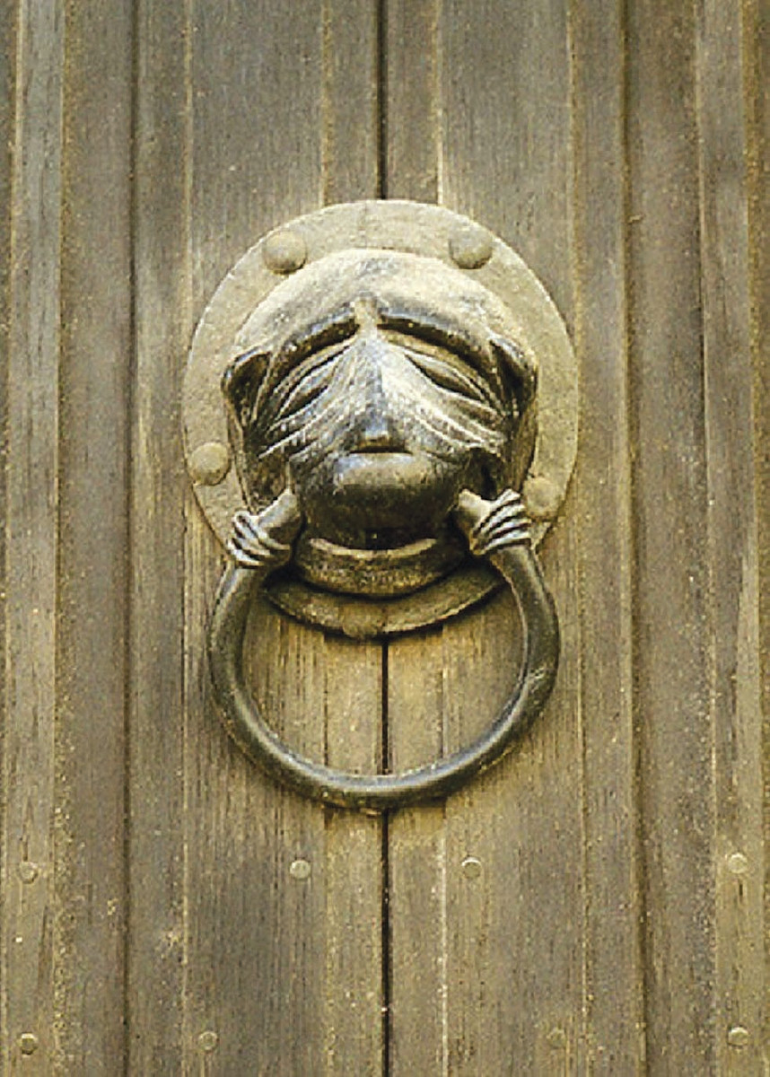 The Brasenose knocker that caused an expensive scheme to get back.