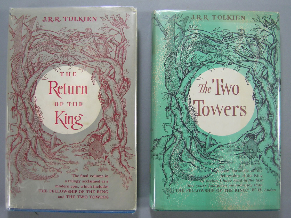 J.R.R. Tolkien-two volumes: Both are the first American editions of The Two Towers, 1955, and The Return of the King, 1956, and have maps in the back, Houghton Mifflin & Co., Boston; estimate: $400-$600.