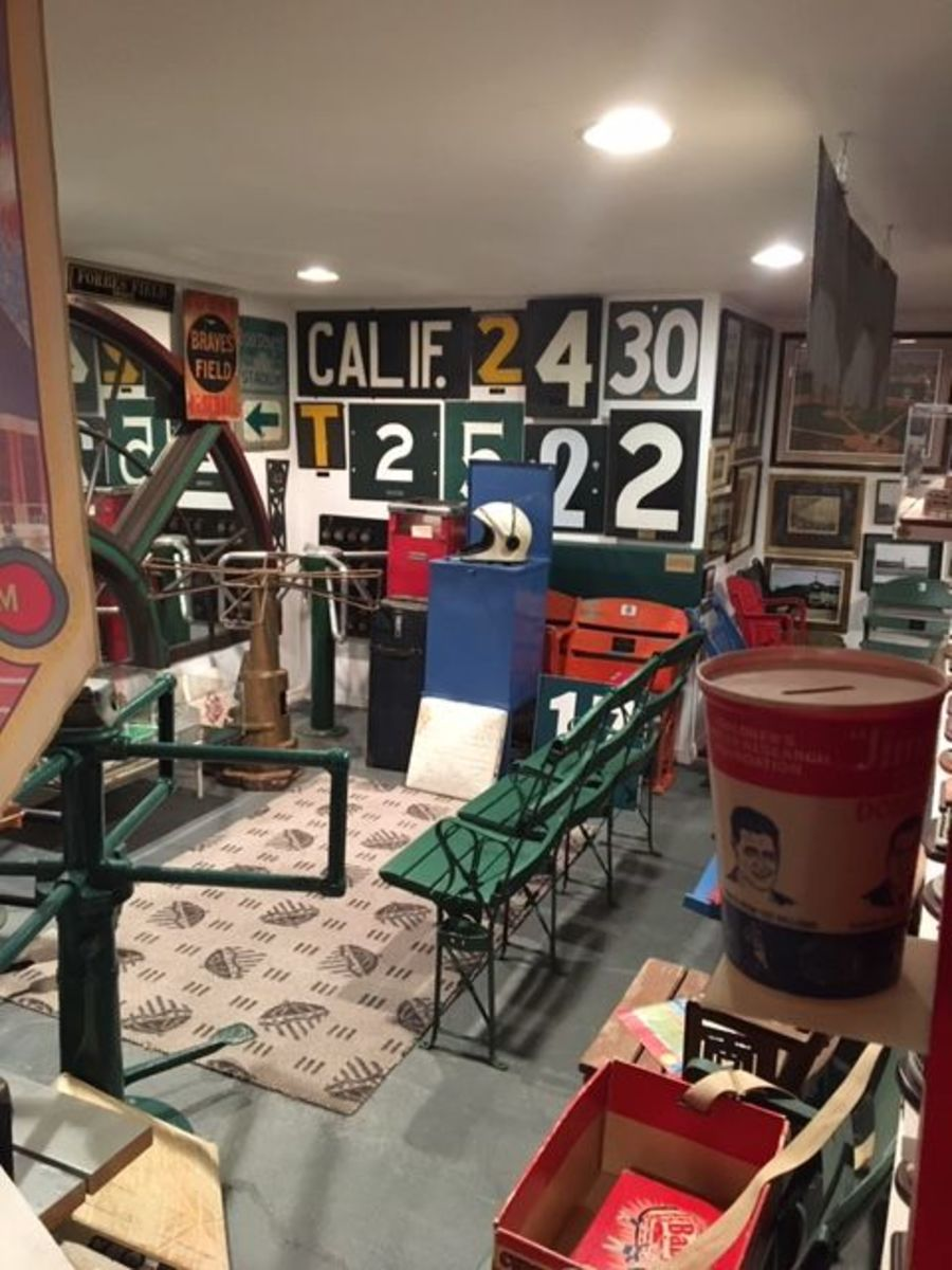 Seats, turnstiles, foul poles, this basement collection has it all.