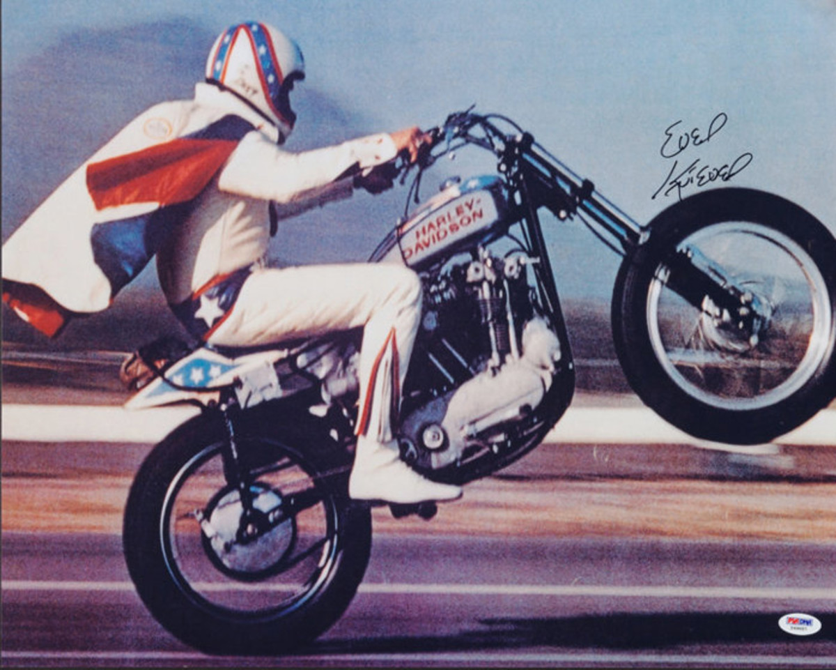 Evel Knievel illustrated the helmet's importance.