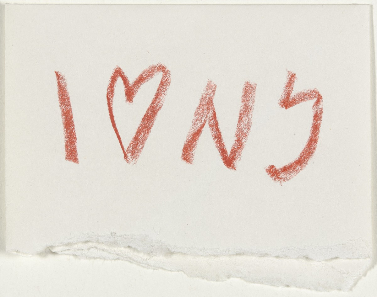I (Heart) NY concept sketch by Milton Glaser, 1976.