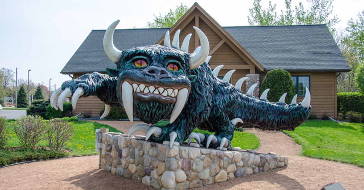 The fearsome Hodag, terror of the pine forests of northern Wisconsin, can be found in Rhinelander, Wisconsin -- if indeed you want to find a foul-smelling, fire-breathing, seven-foot-long beast.