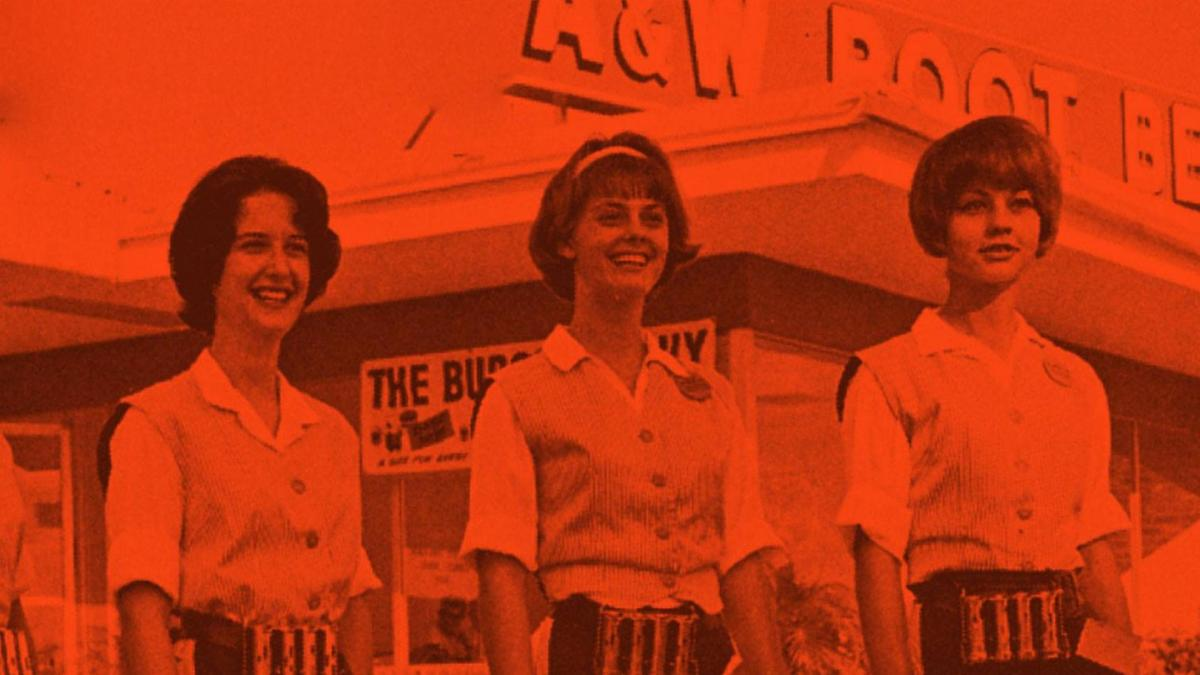 A& W Root Beer Stand car hops, with change makers and a ready smile, are sure to greet us on the road.