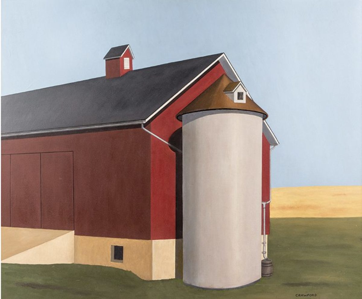 Ralston Crawford's Smith Silo (1936–37), which sold at auction for $395,000, is now thought to be a forgery.