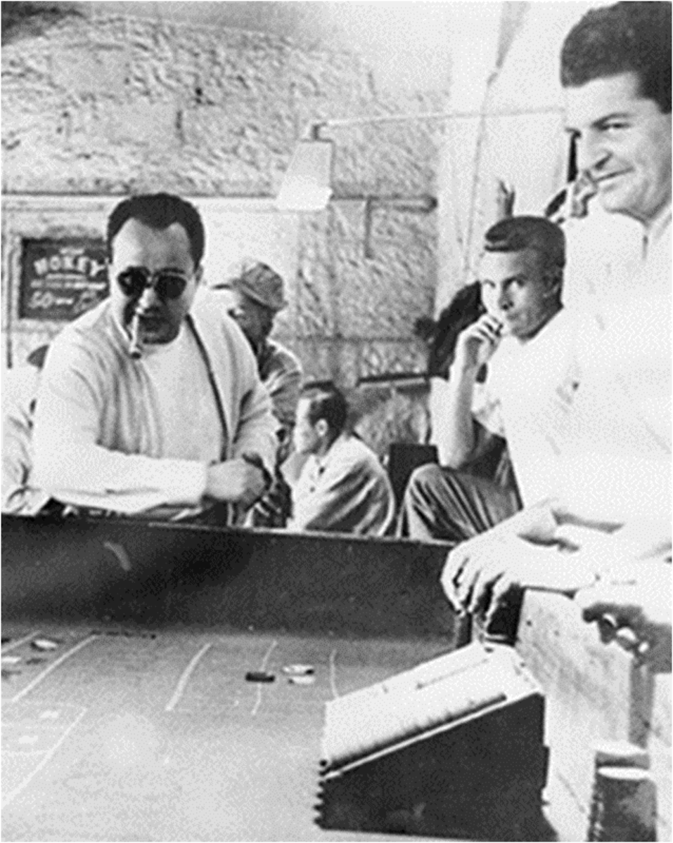 Inmates gambling in the Bullpen.