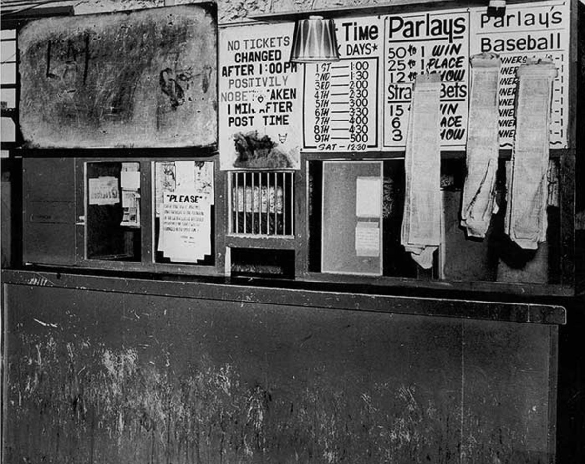 The sports betting window within the Bullpen.