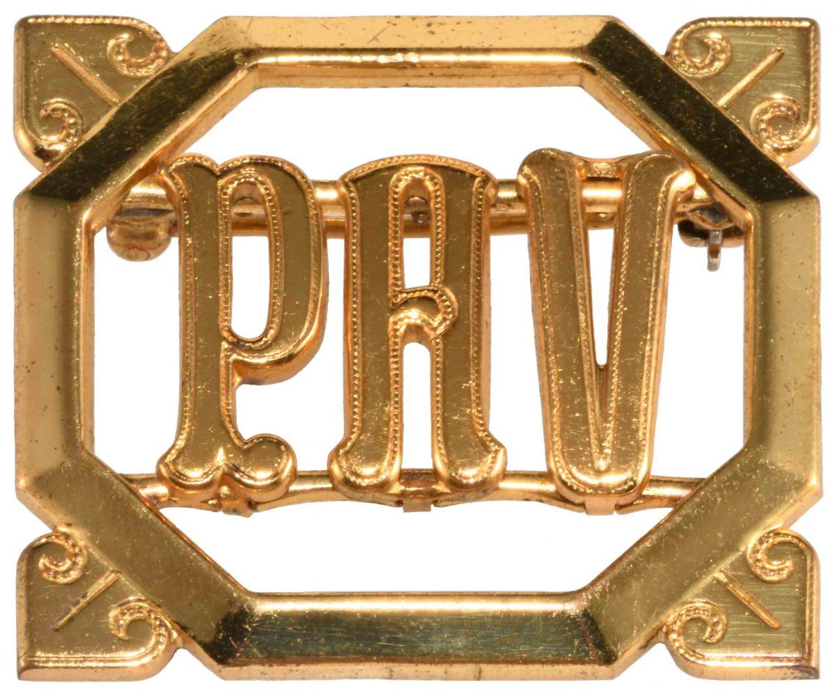 "Monocraft ""Click-Its"" brooch, c. 1936."