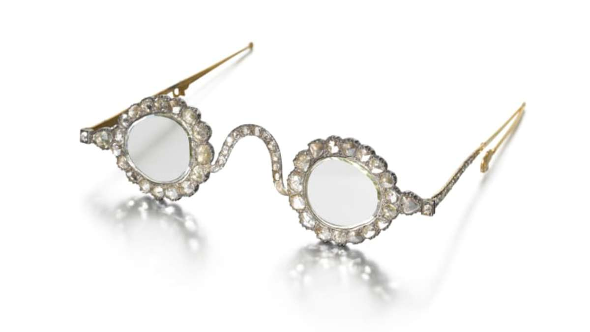 Halo of Light spectacles. The lenses made with diamonds were thought to provide enlightenment.