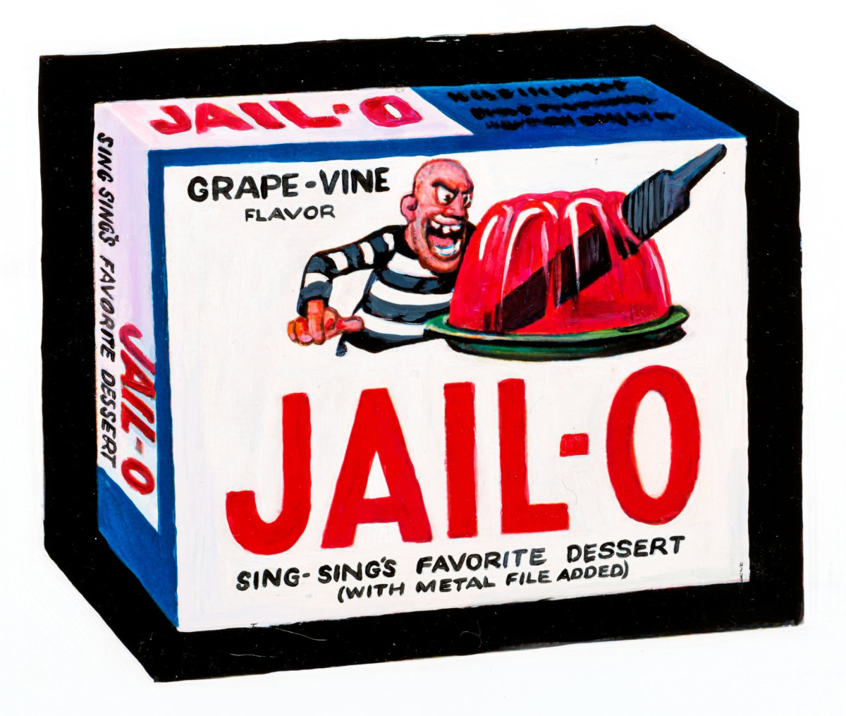 A spot-on 1979 re-creation of JAIL-O by famed Illustrator John Monteleone as a tribute to the original design by Wally Wood for the 1973 Topps Wacky Packages 1st Series card, $94.