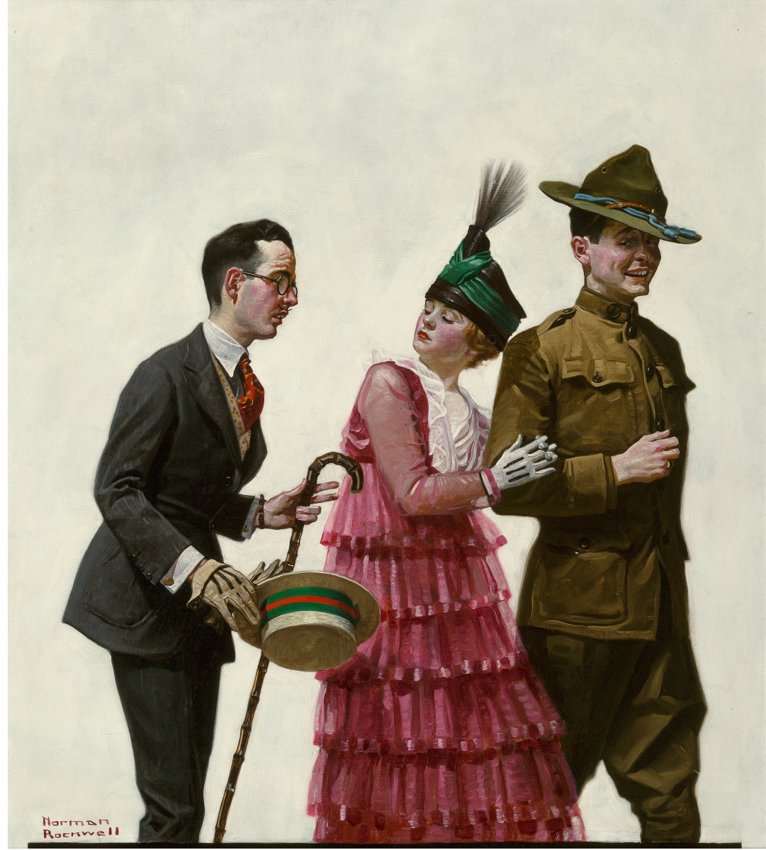 Norman Rockwell's Excuse Me! is expected to fetch more than $400,000.