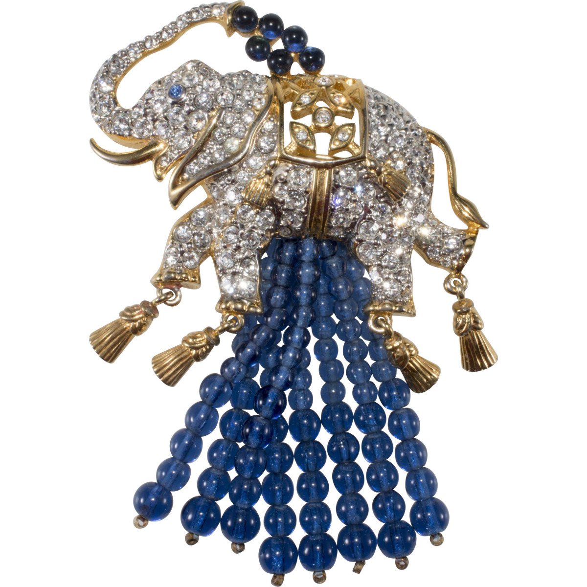 """Elizabeth Taylor Avon """"Elephant Walk"""" brooch, 1993."""