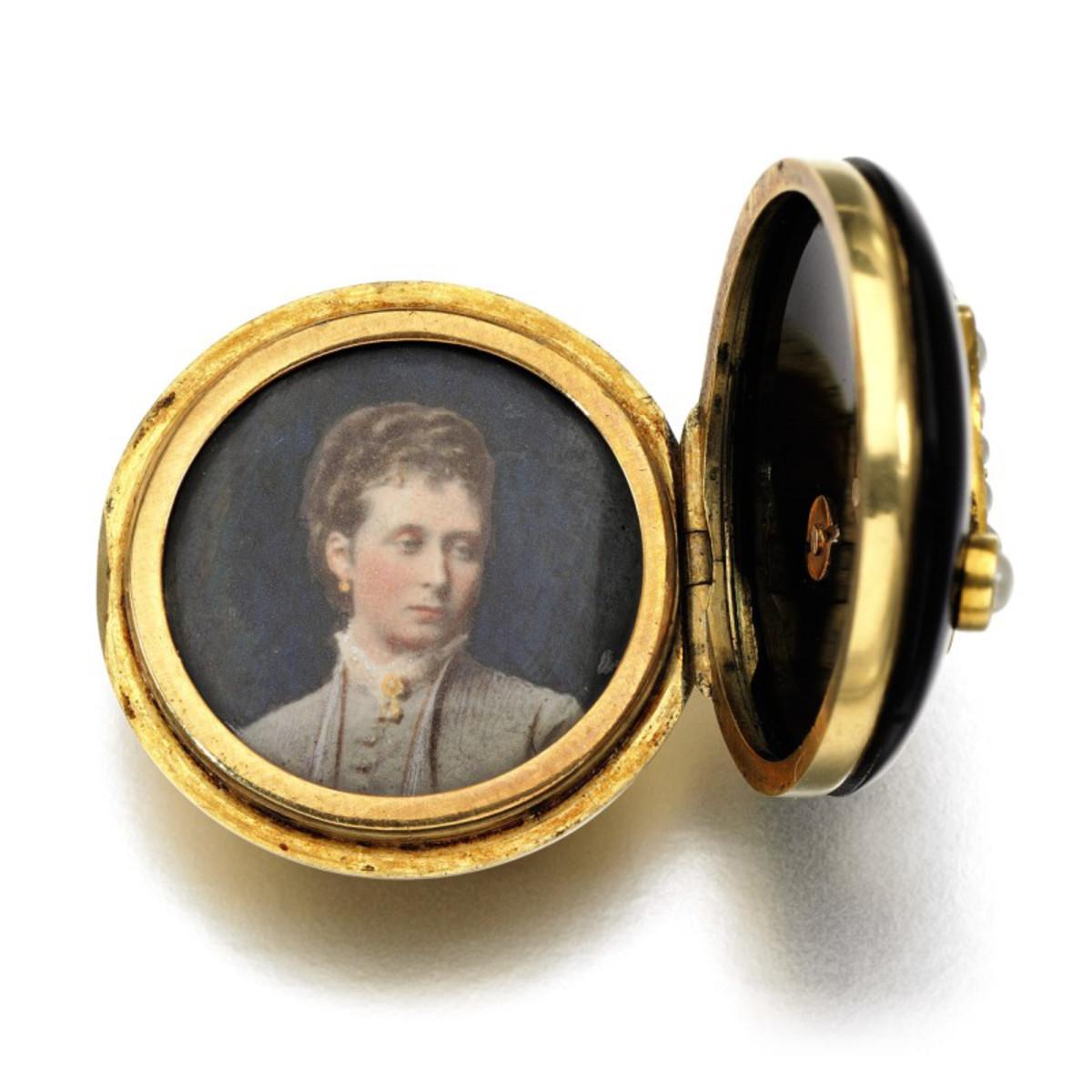 The miniature portrait of Princess Alice.
