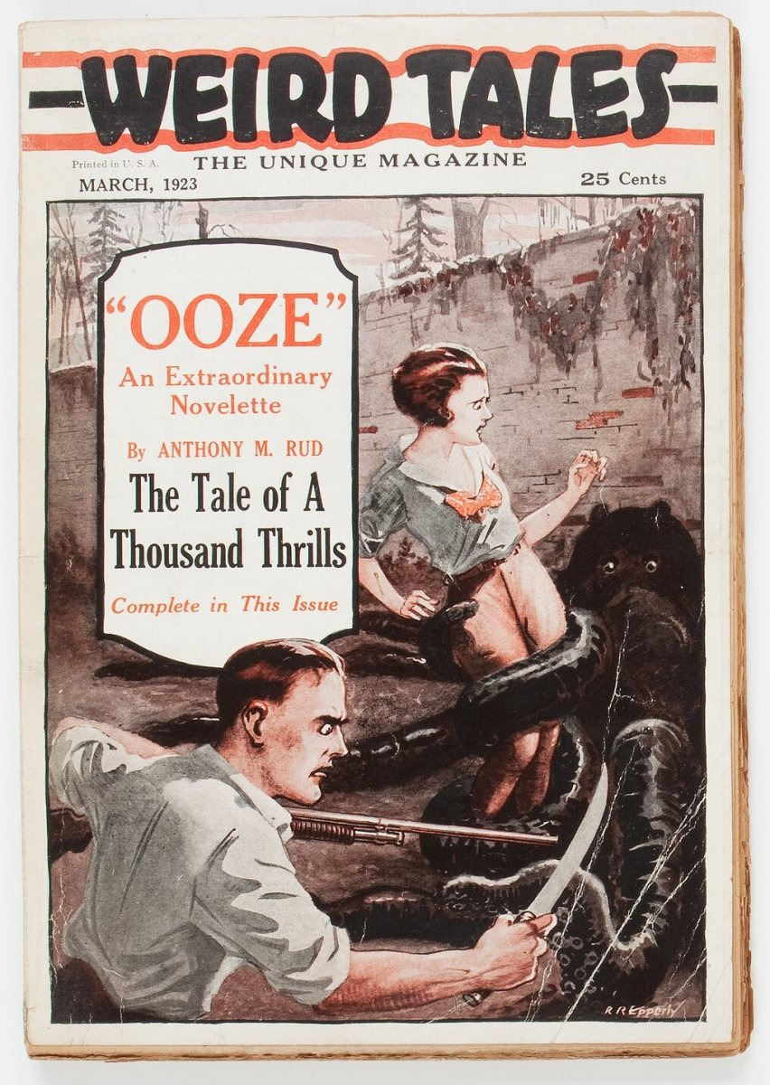 Weird Tales - March 1923 First Issue, Second-State Copy (Popular Fiction), VG+, sold for a record $36,000.