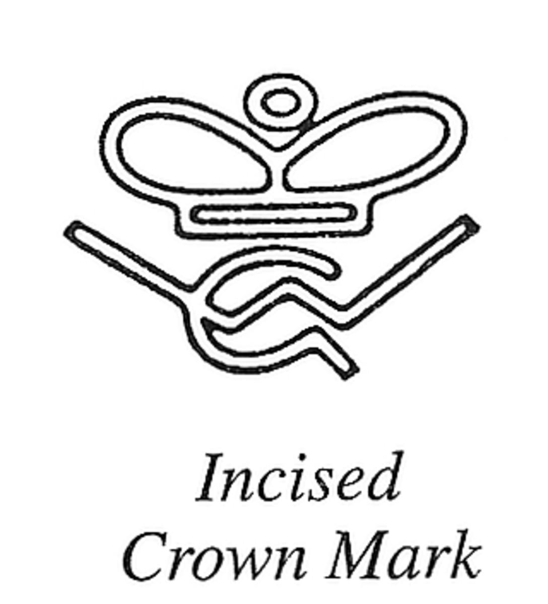 Incised Crown Mark