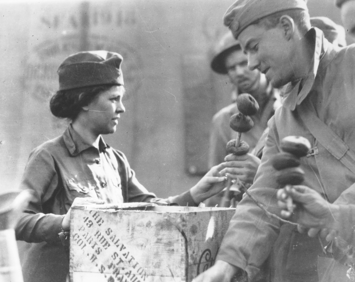 Salvation Army Donut Lassies relied on ingenuity to serve up thousands of donuts to WWI soldiers.