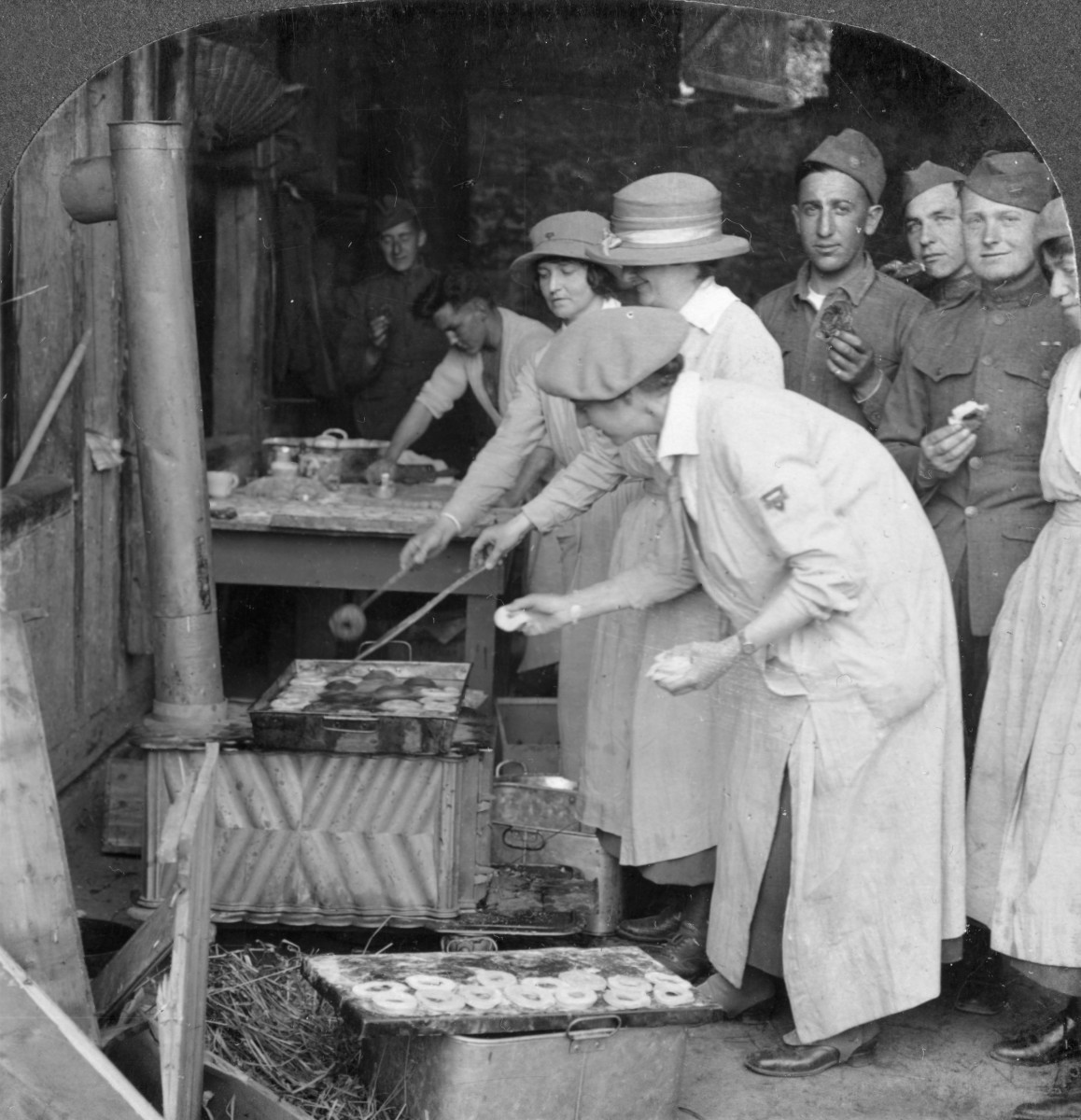 """Doughnuts for Doughboys"": Montabaur on the Rhine, Germany, circa 1918-1919."