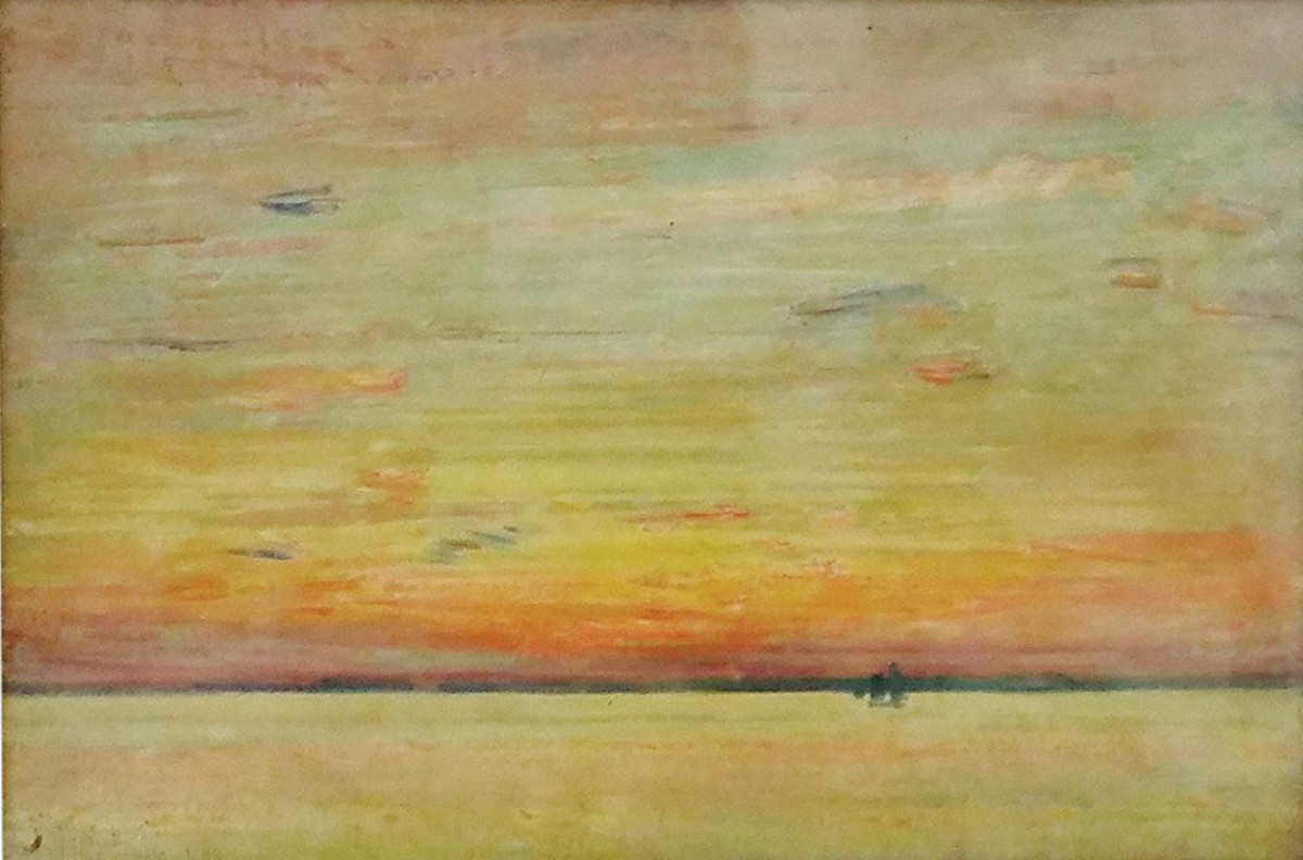 The oil-on-panel by Childe Hassam has a pre-sale estimate  of $20,000-$30,000.