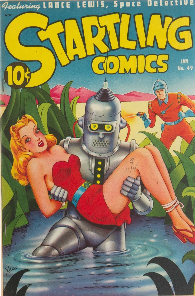 Startling Comics No. 49 features the air-brushed mastery of Alex Schomburg.