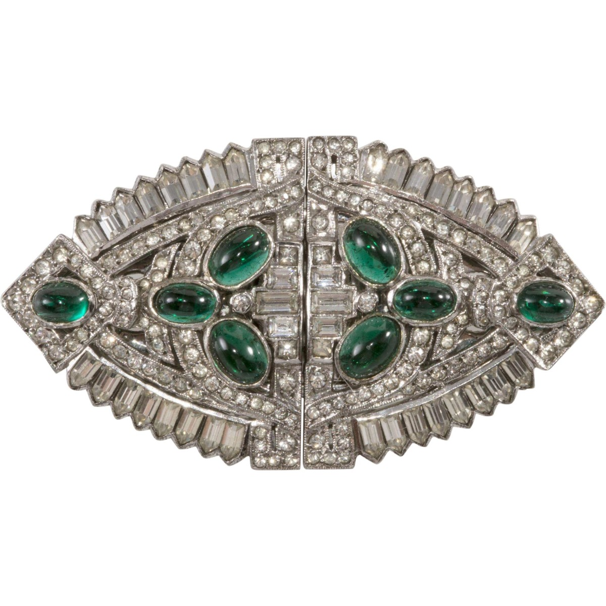 Ciner sterling silver 'duette brooch'