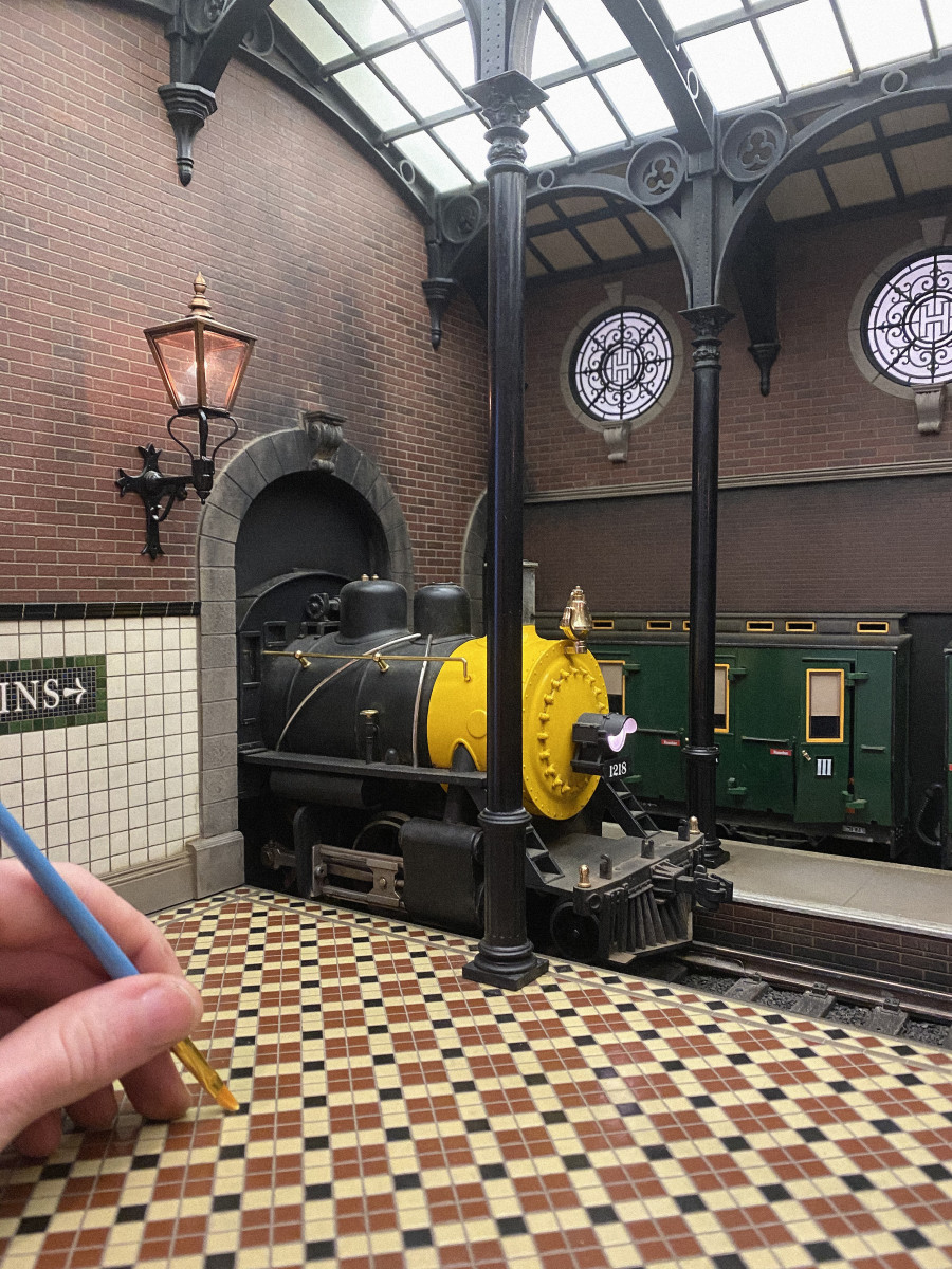 A Victorian train station.