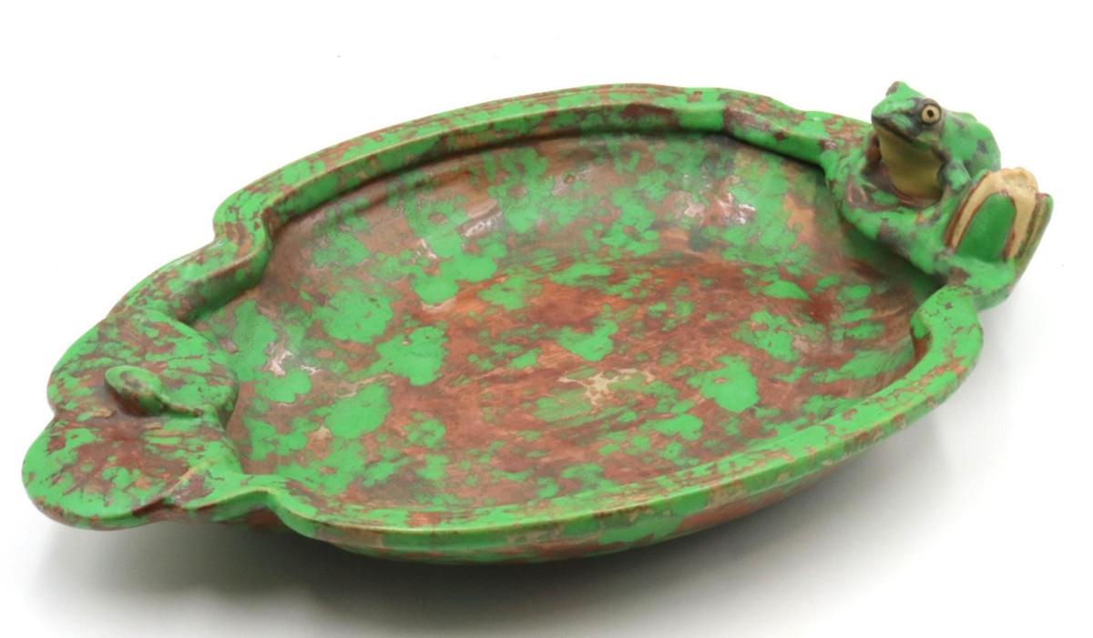 "Coppertone frog bowl, 3-1/2"" h x 16"" l; $200."