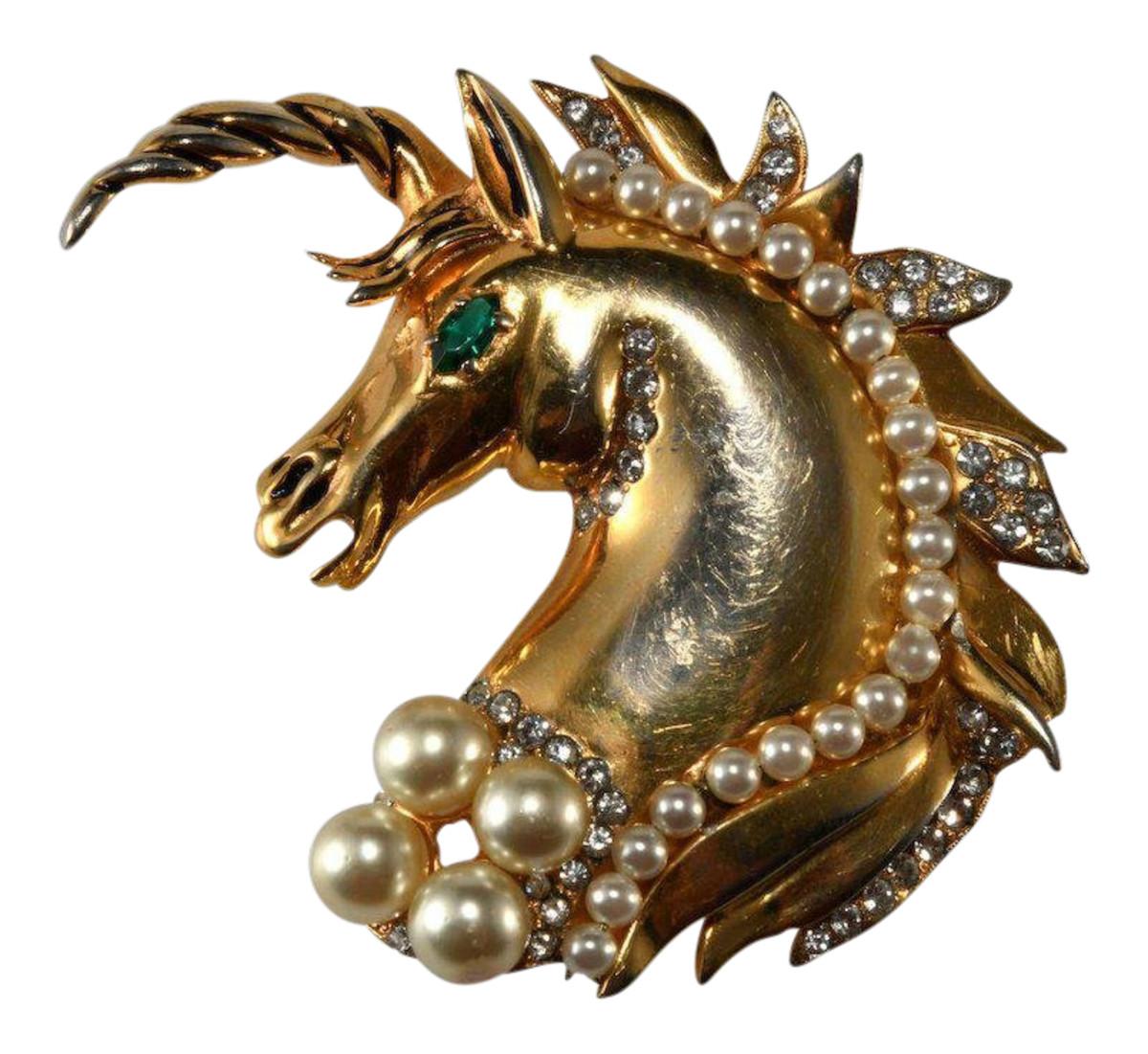 Hattie Carnegie unicorn brooch