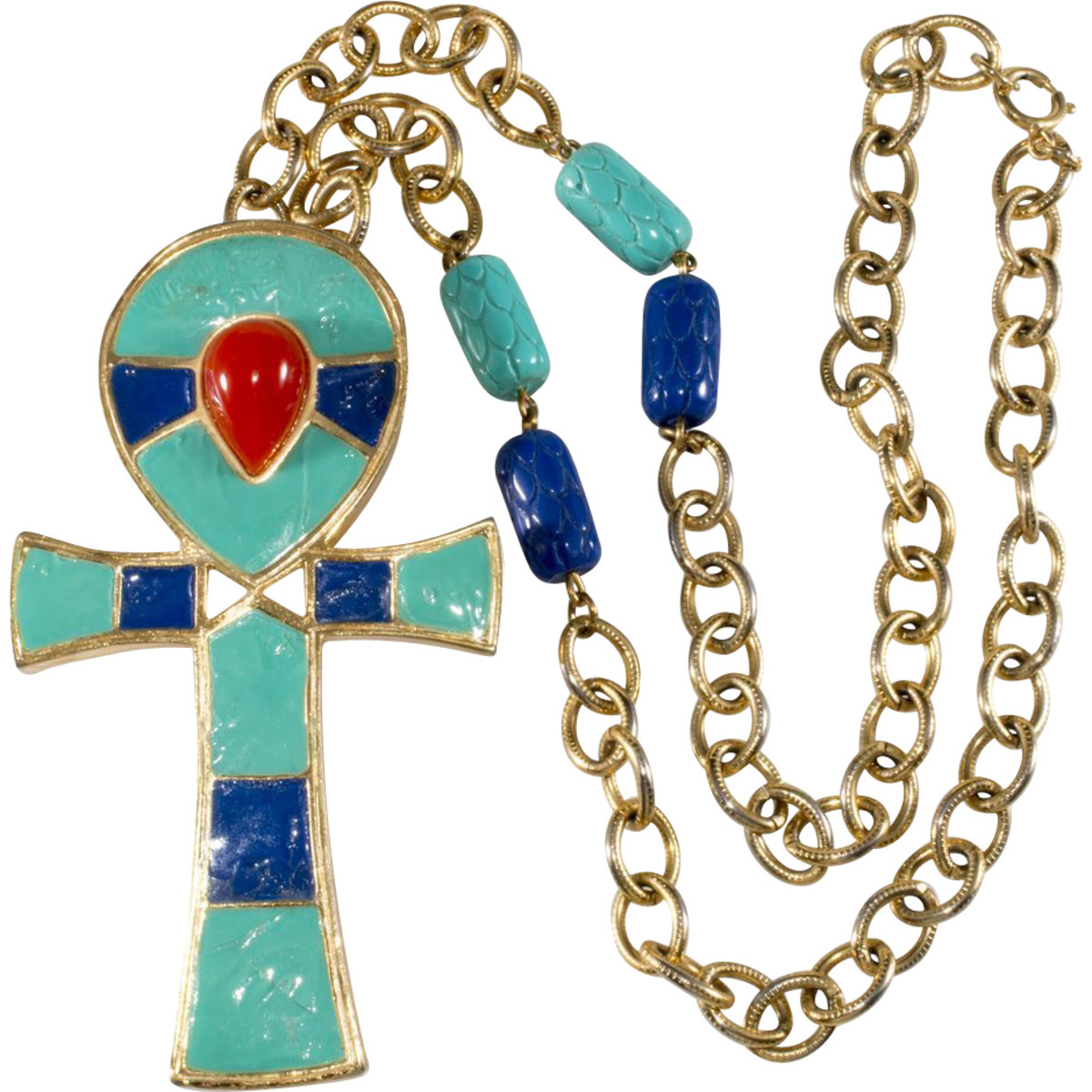 Hattie Carnegie Egyptian revival Ankh necklace