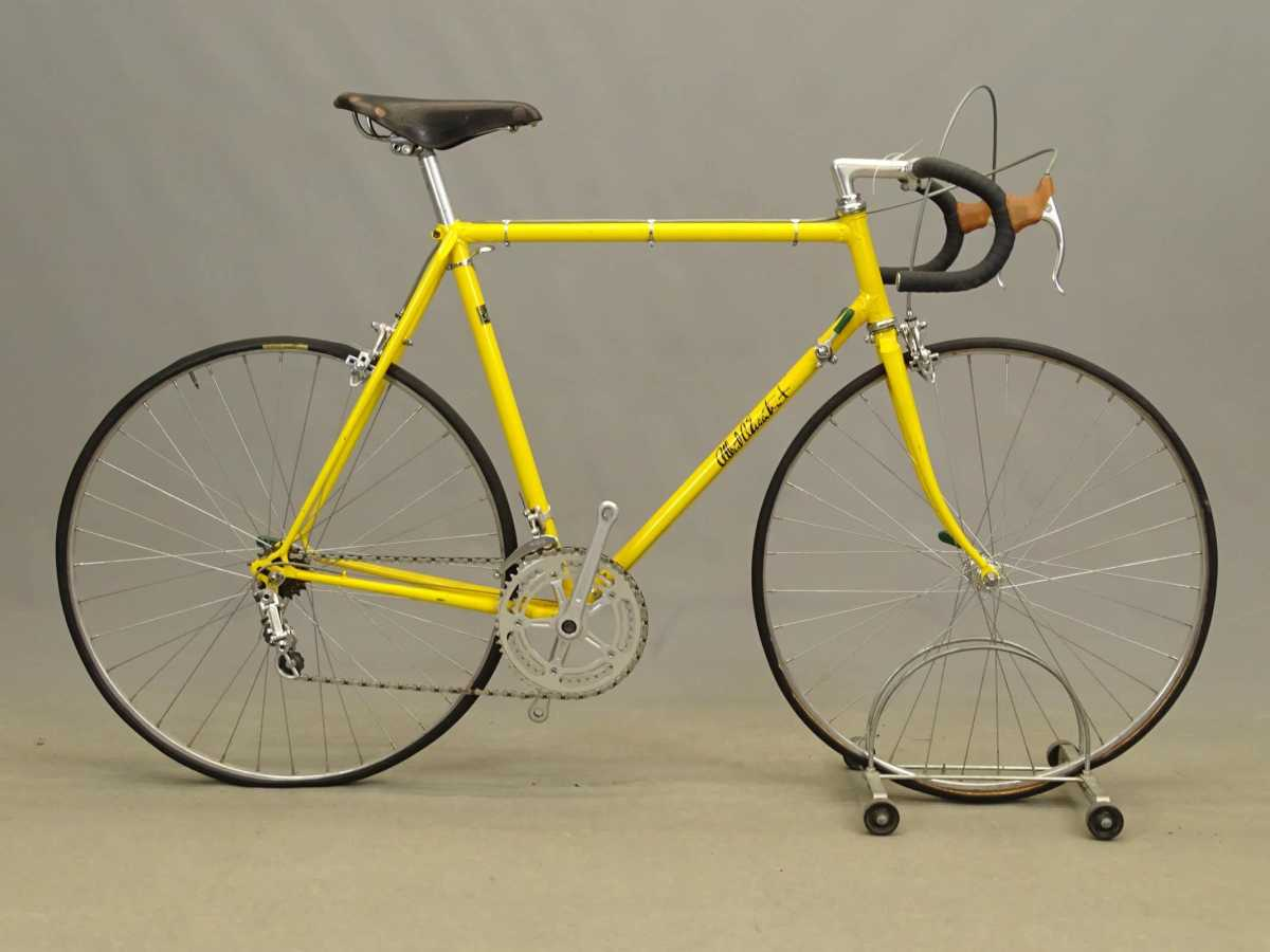 """Albert Eisentraut men's 23"""" lightweight bicycle, frame marked Eisentraut / Oakland, 10-speed, Campagnolo accessories. From the collection of Anthony LaPaglia. Est: $800-$1,000."""