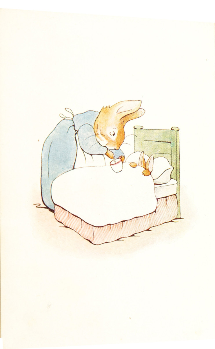 The frontispiece for the first edition of Peter Rabbit, 1901.