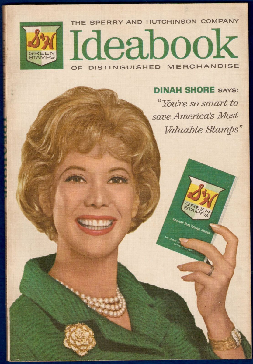 Dinah Shore touts stamp saving on the cover of a 1963 Ideabook.