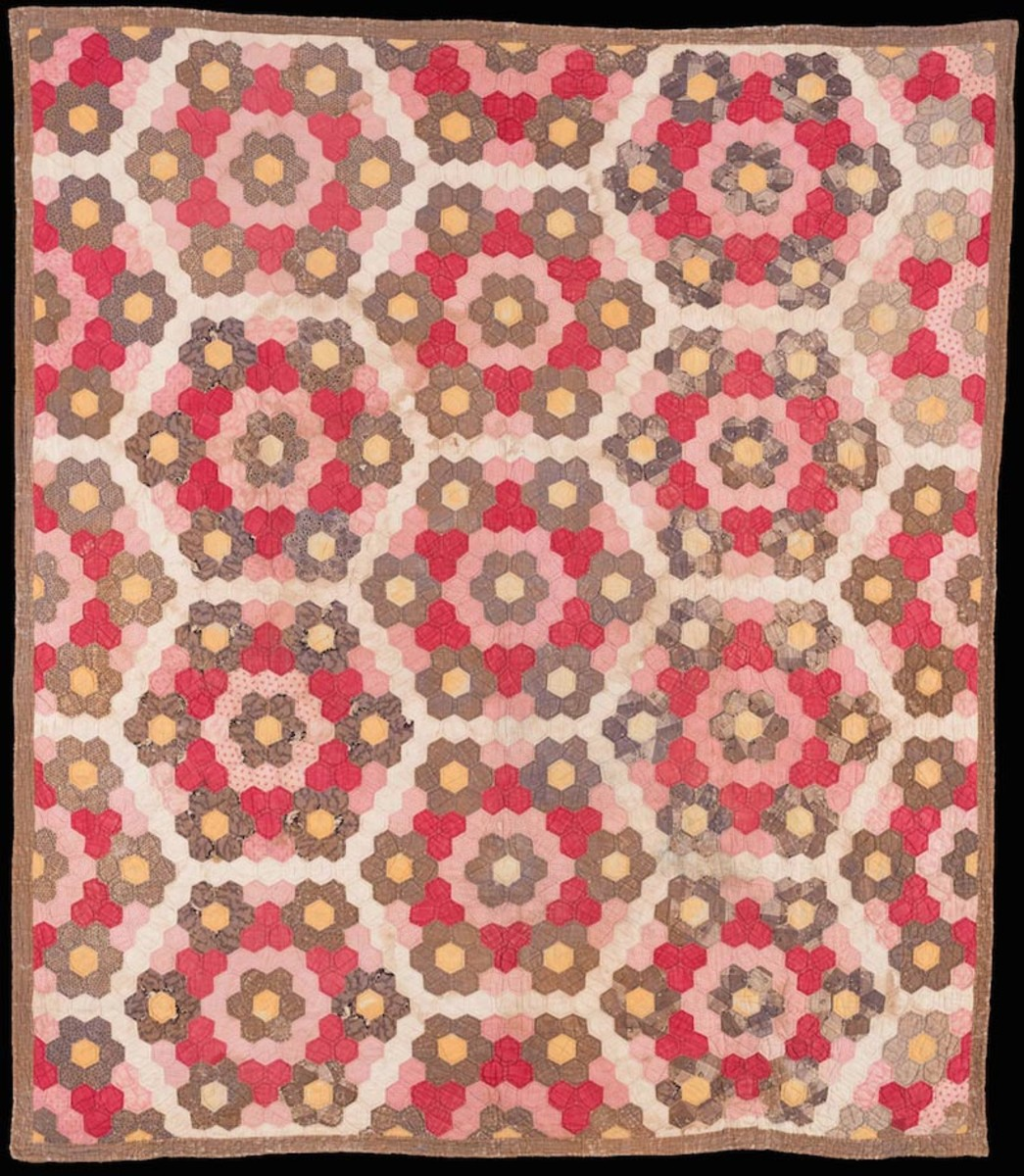 Pieced Honeycomb quilt