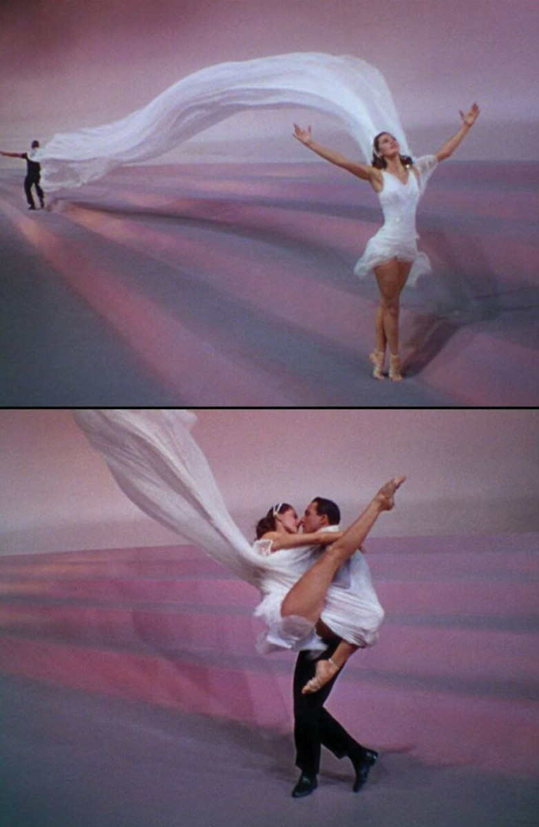 """Cyd Charisse and Gene Kelly in """"Dancin' in the Rain.""""."""