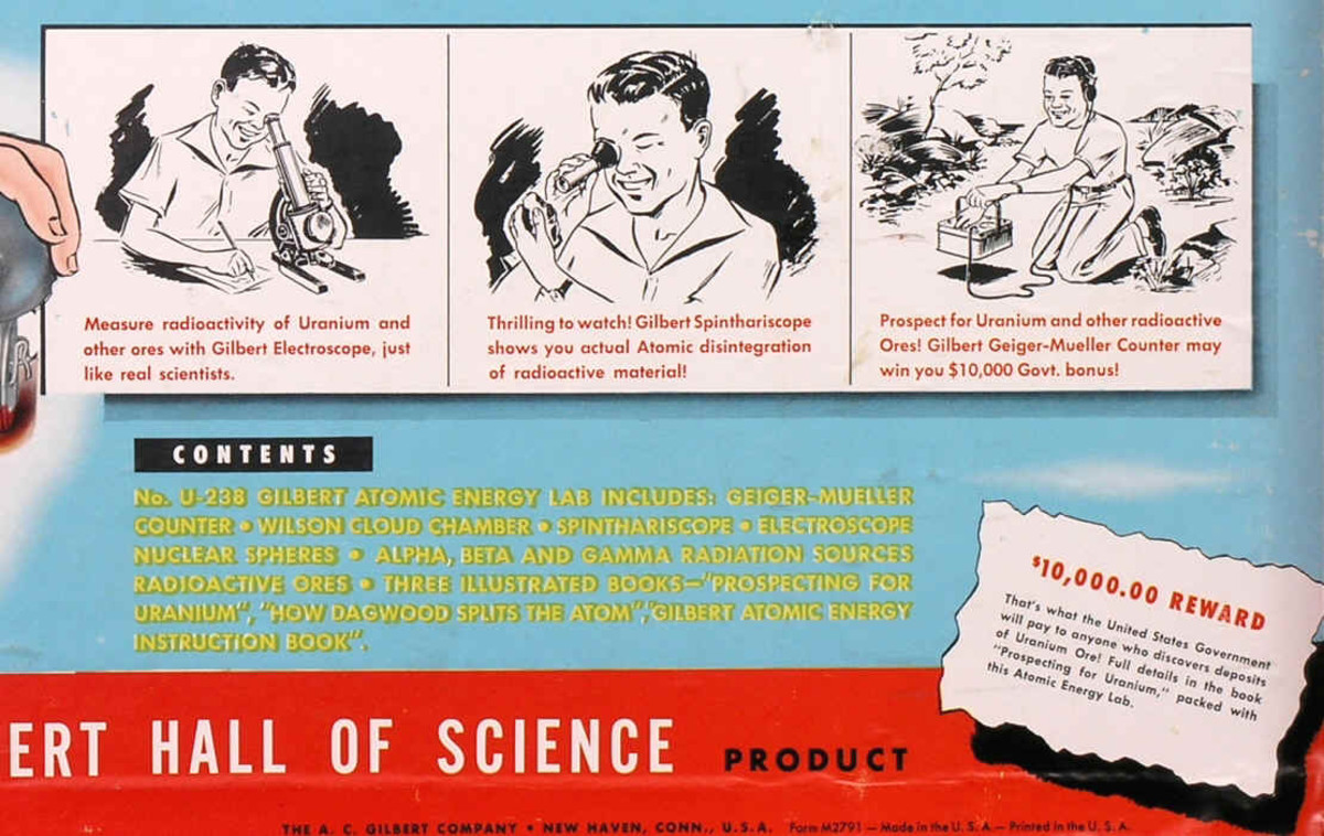 Fortunately for Mom and Dad, The Atomic Energy Lab stressed the peace-time role of atomic energy. There wasn't a hint of the A-bomb in the whole kit.