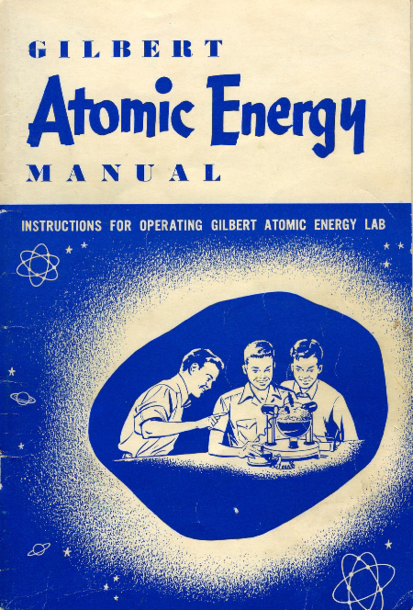 Although it sold for about $50 back in 1950, today The Atomic Energy Lab, which included this handy manual, can sell for as much as $5,000 today.
