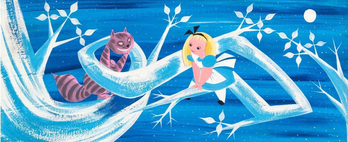 Mary Blair's Alice in Wonderland Cheshire Cat