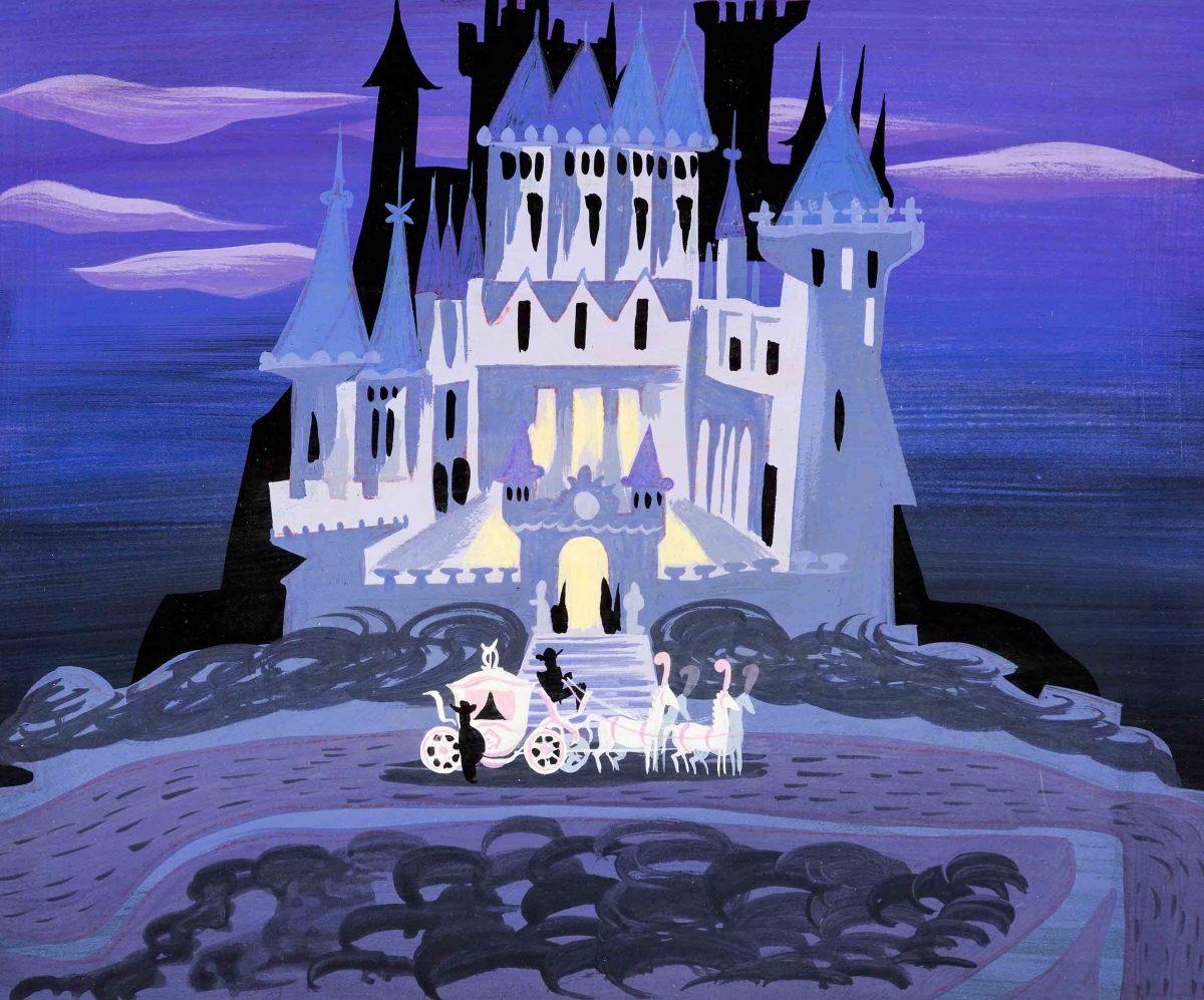 Mary Blair's Cinderella coach and castle concept art