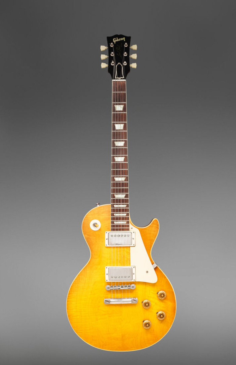 This 1959 Gibson Les Paul Standard Sunburst electric guitar sold for $300,000.