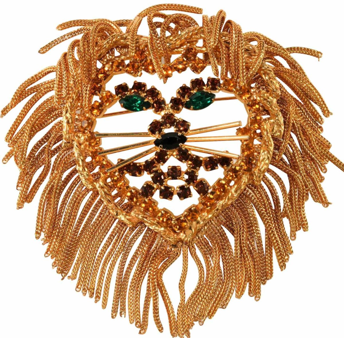 Costume jewelry brooch by Dominique.