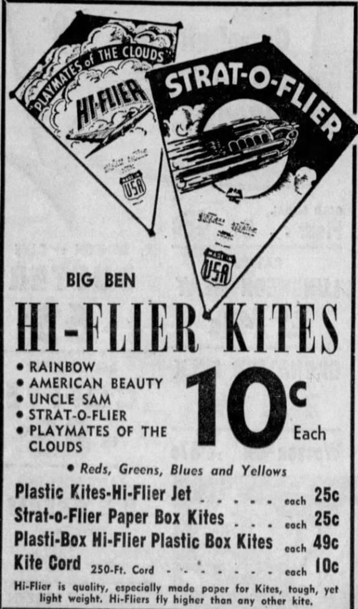 Advertisement for Hi-Flier Kites