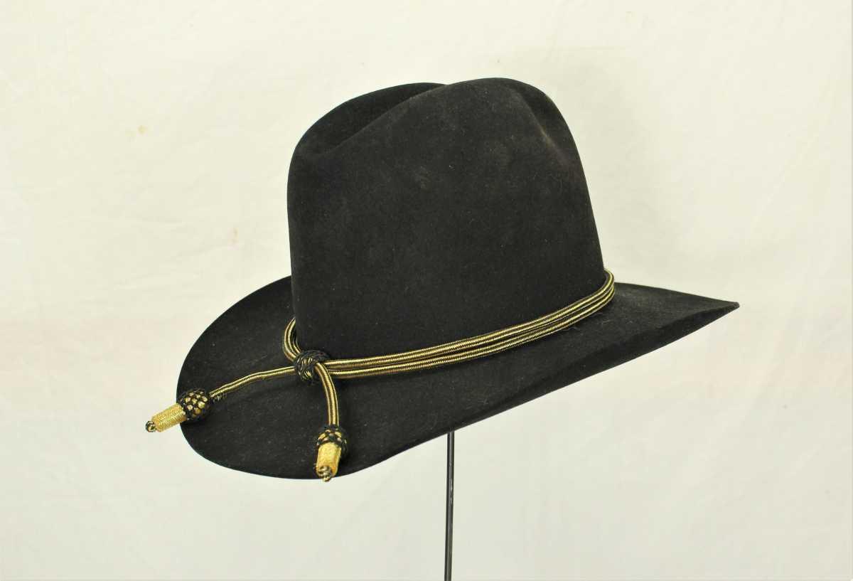 "Resistol 3X hat worn by John Wayne as Gen. William Tecumseh Sherman in the 1962 MGM film, ""How the West Was Won."" Estimate: $2,000-$10,000."