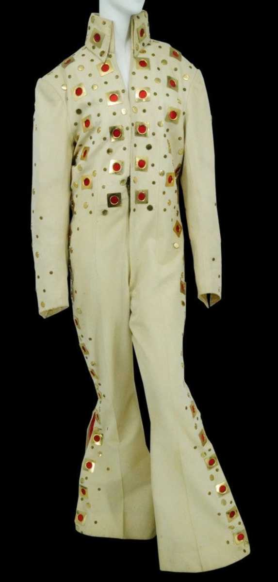 Elvis Presley's stage-worn Madison Square Garden eyelet jumpsuit; estimate: $1.5-$2 million.