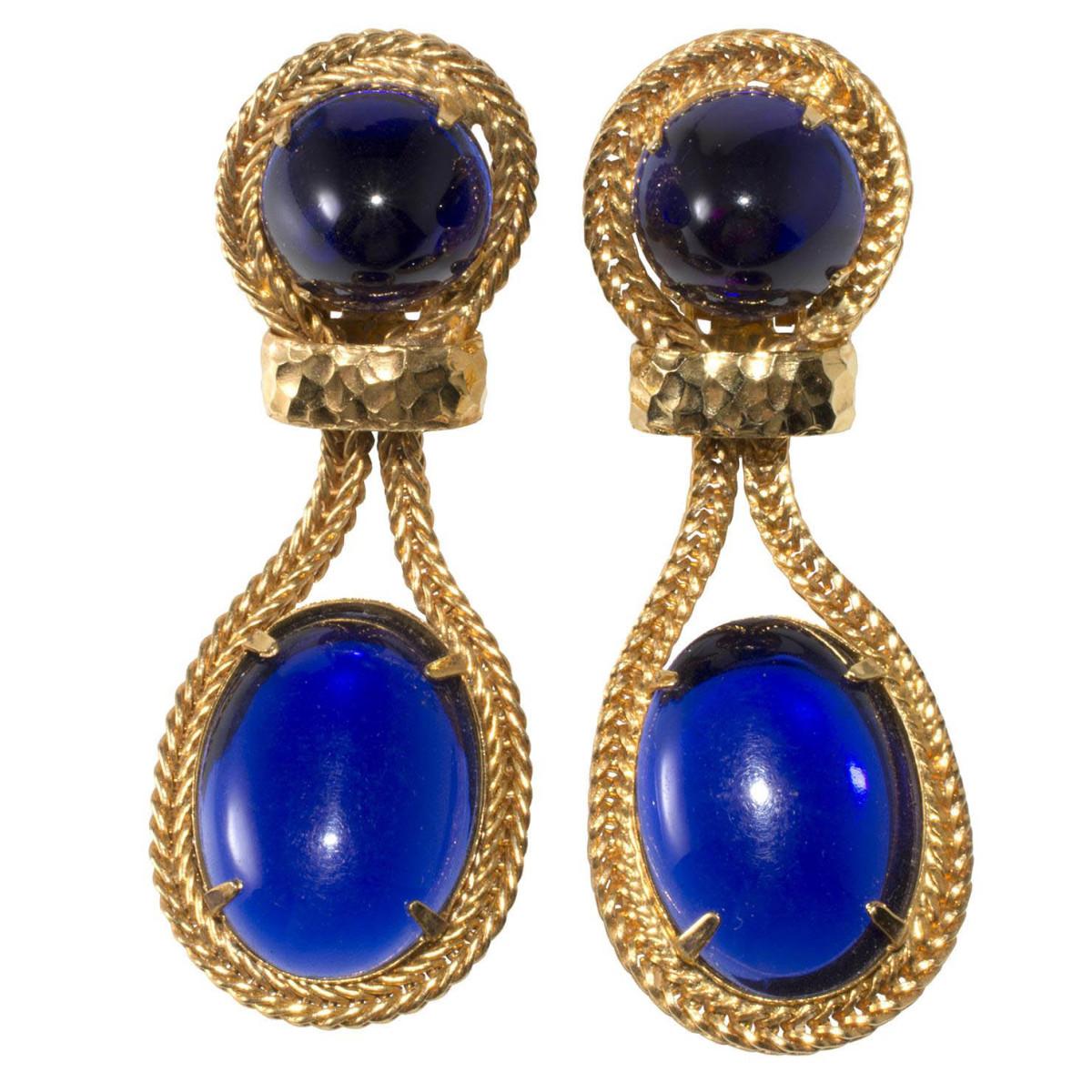 K.J.L. cabochon earrings