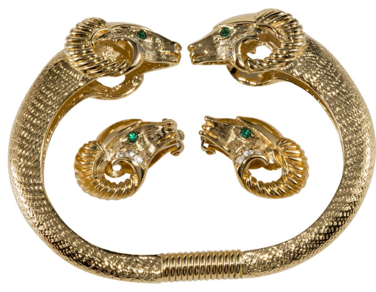 K.J.L. for Avon bracelet/earrings